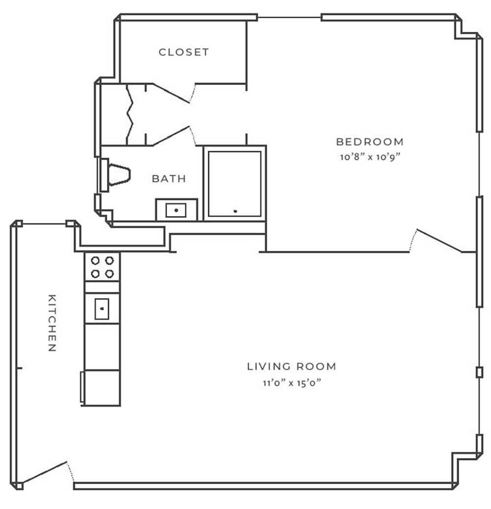 The Oliver on LaSalle One Bedroom
